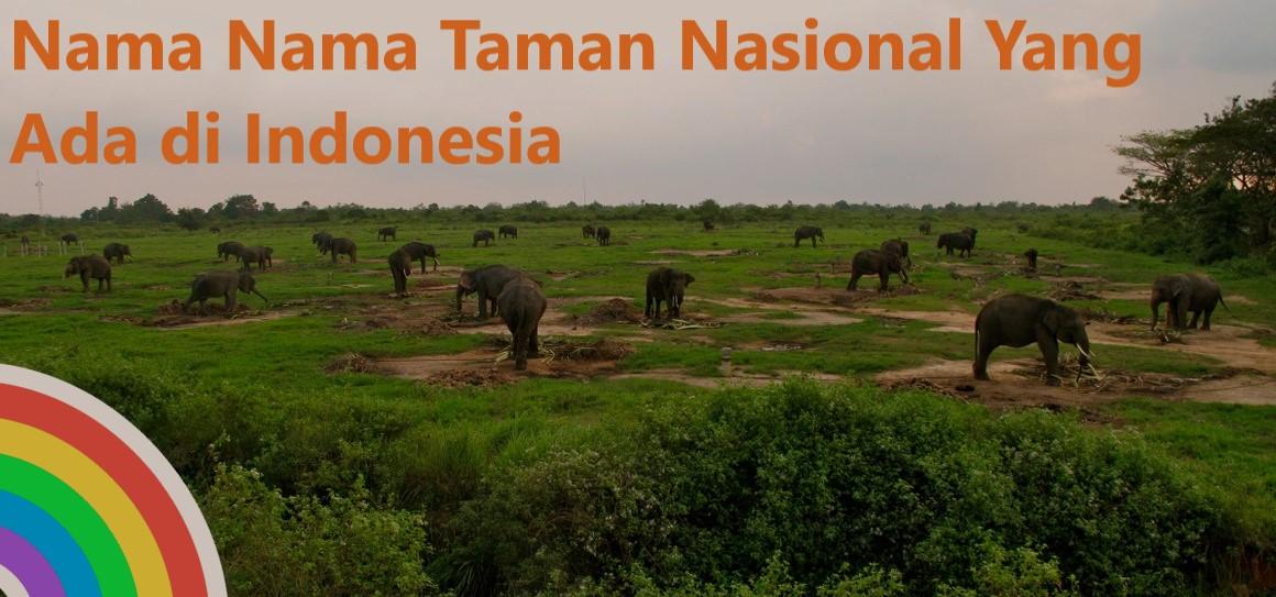 Nama Nama Taman Nasional Yang Ada di Indonesia